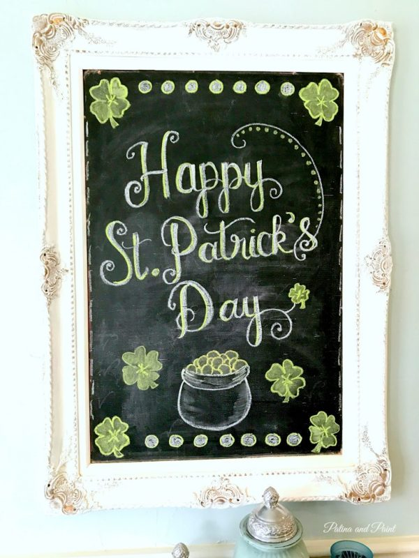 St Patrick's Day Chalk Board