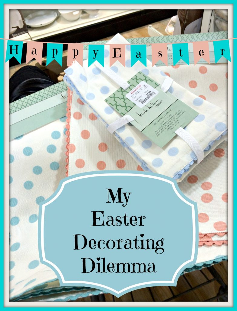 Easter decorating dilemma patina and paint for Home goods easter decorations