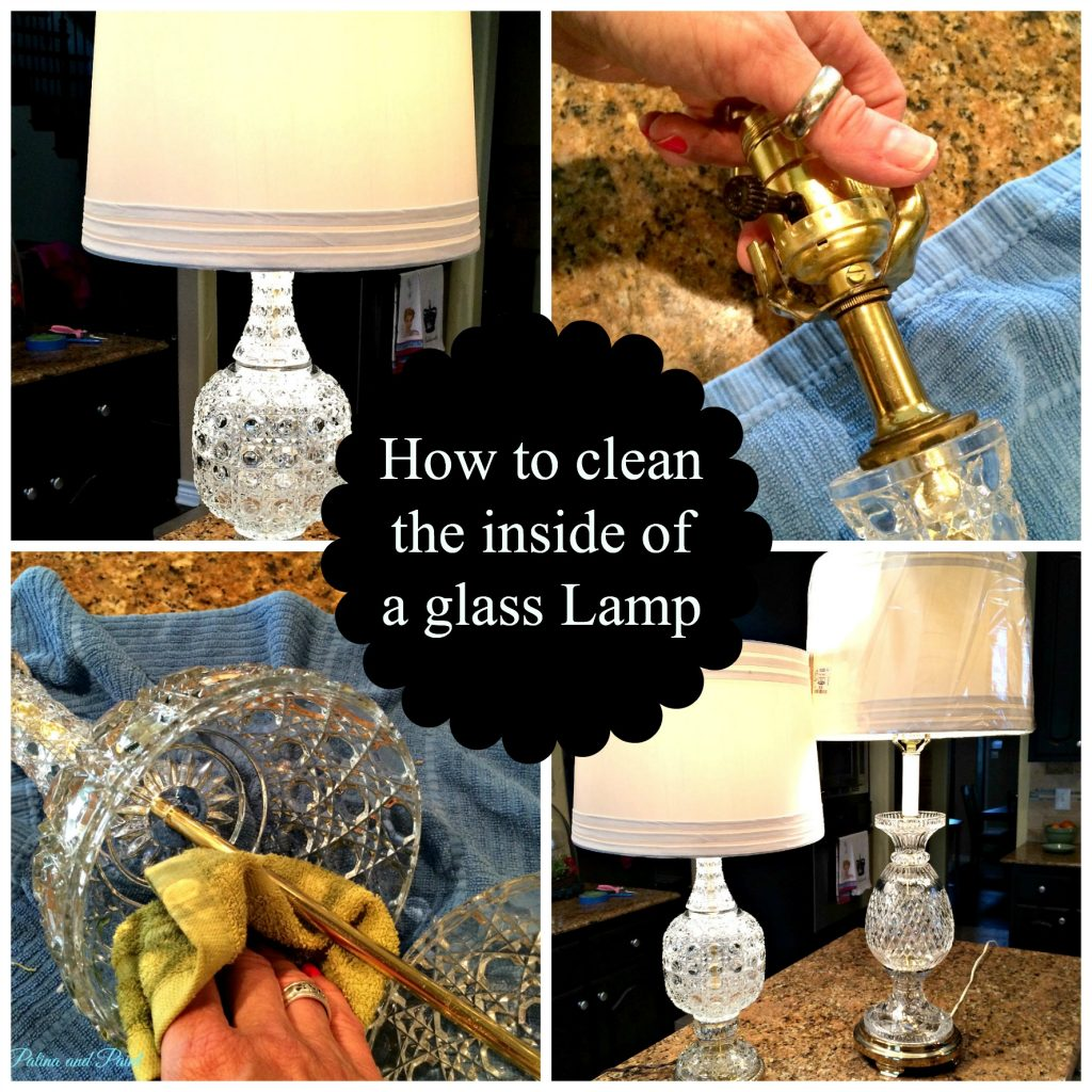How to Clean the Inside of a Glass Lamp