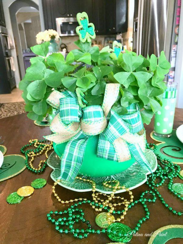 St. Patrick's centerpiece