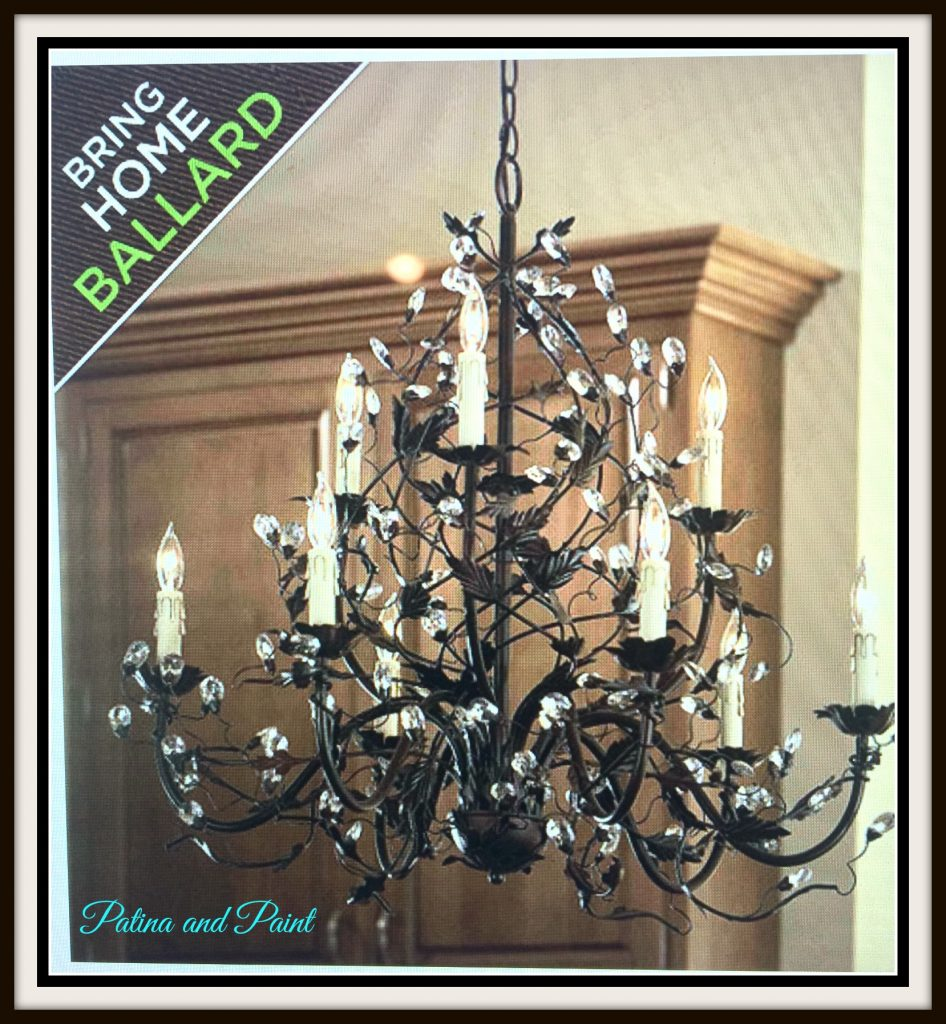 New Dining Room Chandelier Patina and Paint