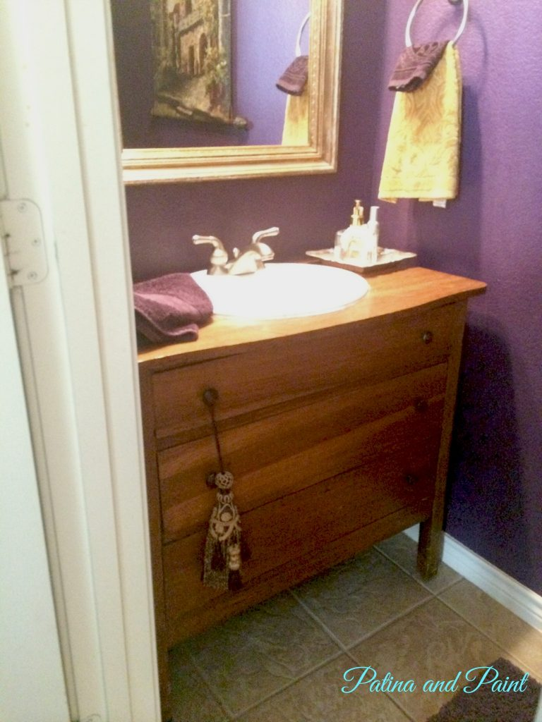What Is A Powder Room powder room makeover - patina and paint