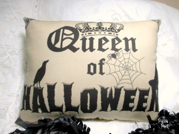 Queen of Halloween Pillow