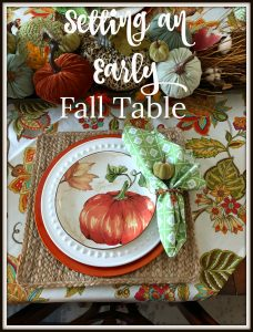 setting an early fall table