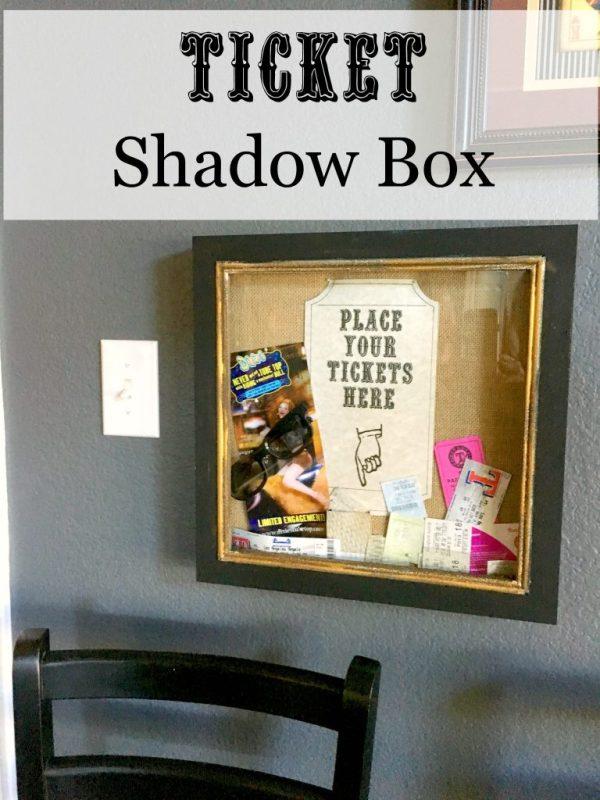 Ticket shadow box 8