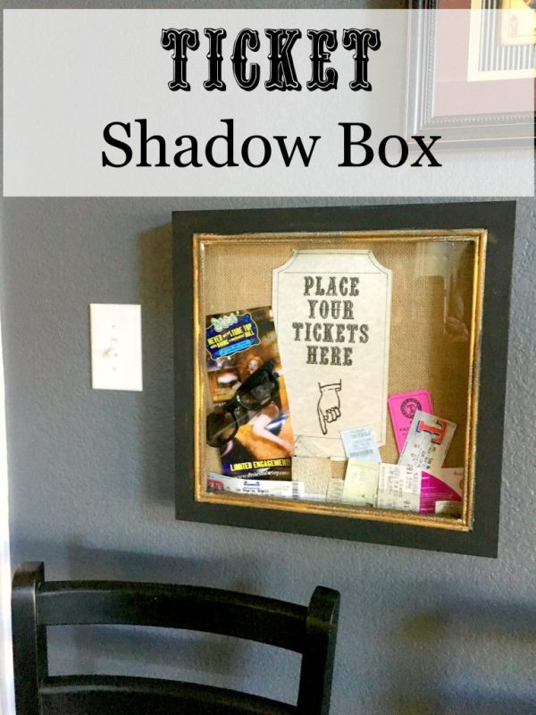 Ticket shadow box 8