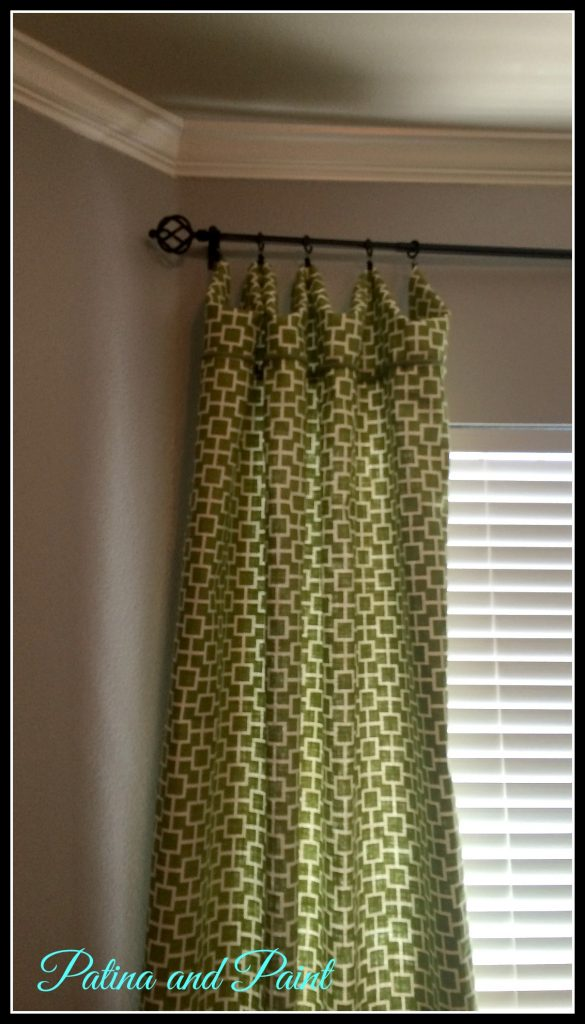 Green bedroom curtains - Bedroom Curtains 2 Here Is Another Angle You May Notice About Ten Inches From The Top That I Have Added Some Green Gimp If I Were Smart I Would Never