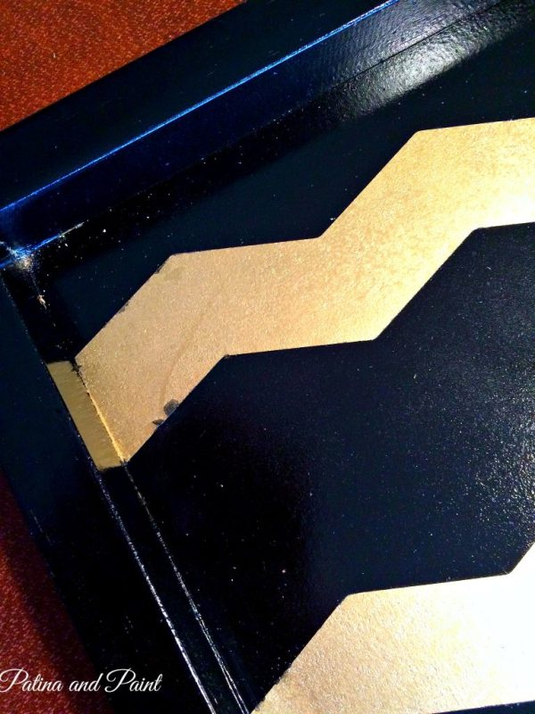 black and gold tray 1