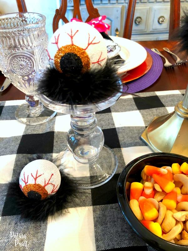 eye balls, candlestick