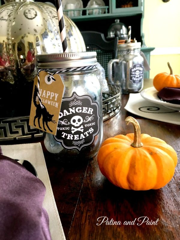 halloween mason jar glass 3
