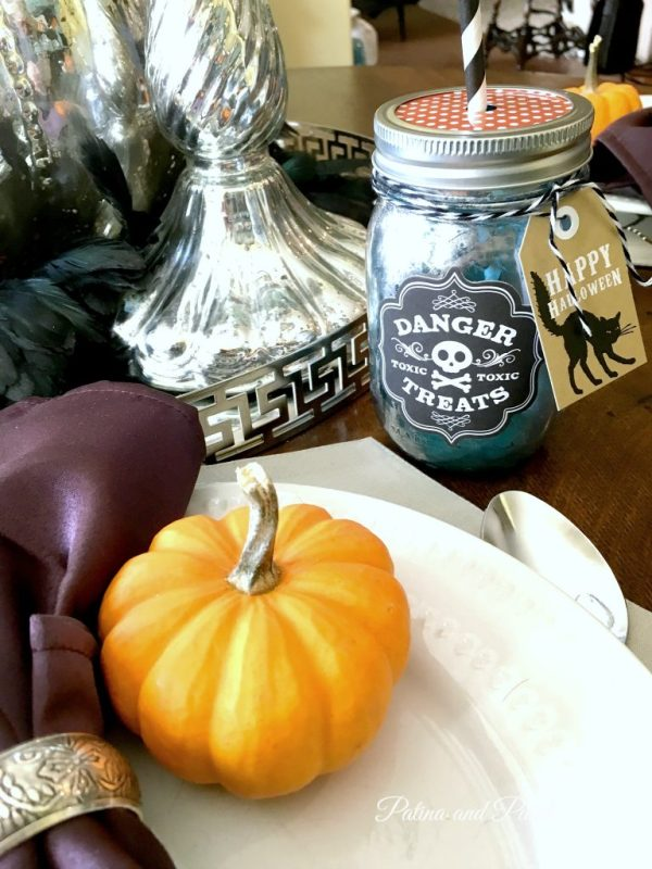 halloween mason jar glass