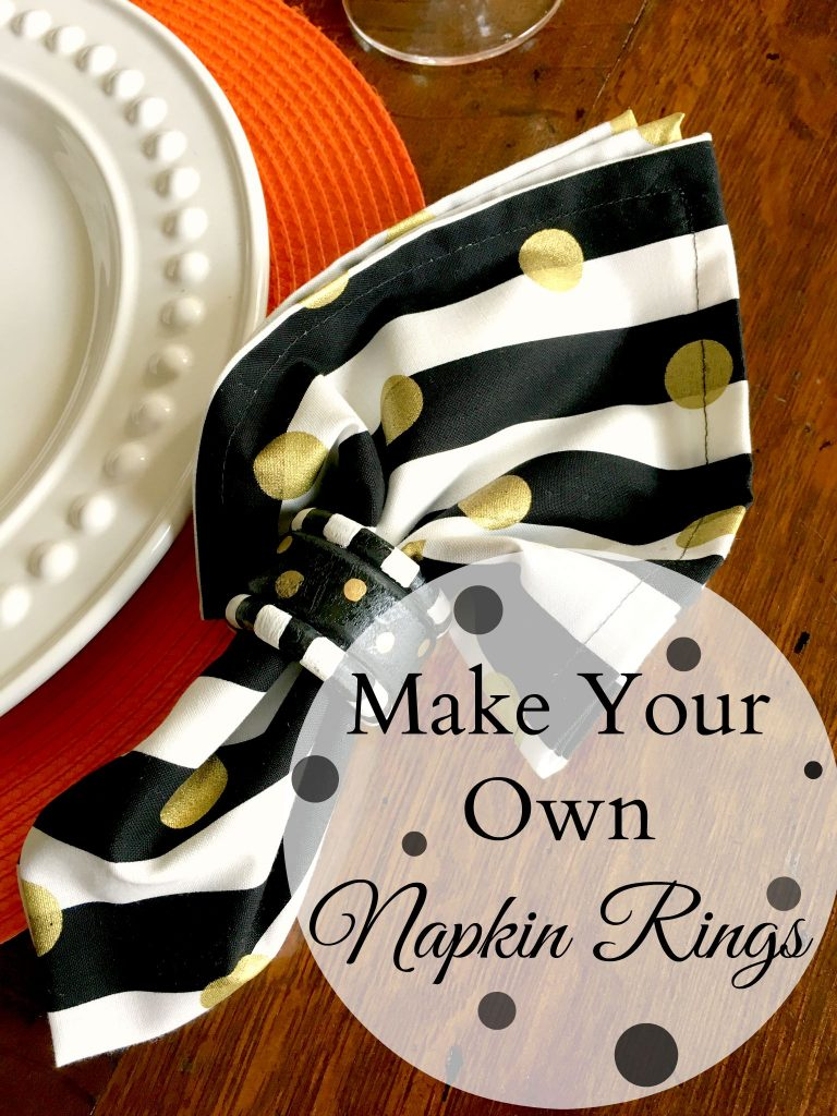 Make Your Own Napkin Rings Patina And Paint