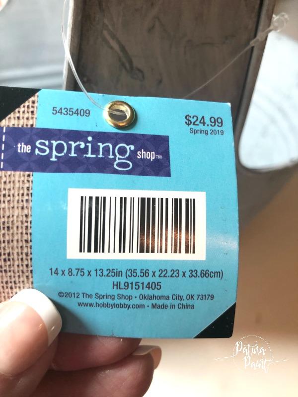 spring price tag
