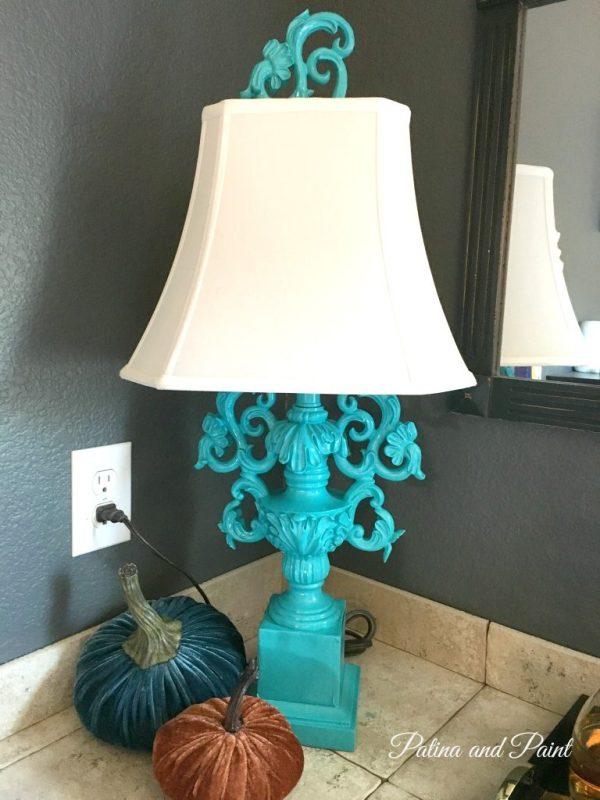 turquoise lamp 1