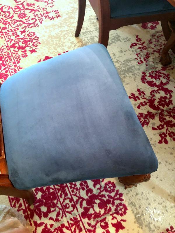 velvet chair seat