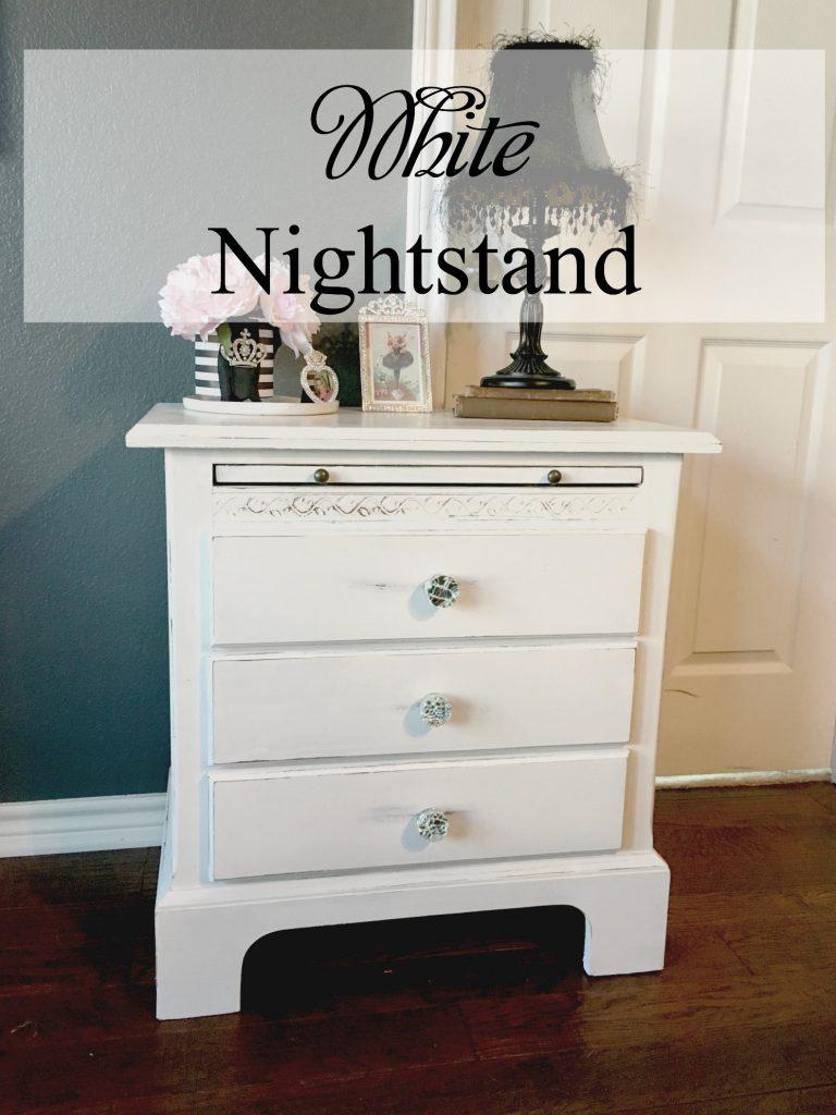 White Nightstand Patina And Paint