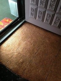 How to Tile a Floor with Pennies.  Patio Supply