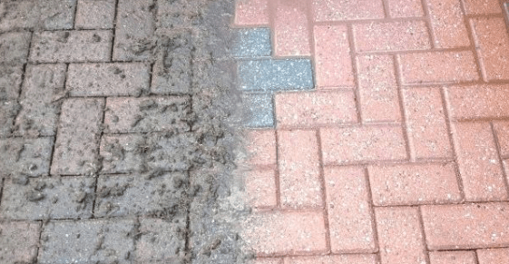 how do you clean concrete patio without