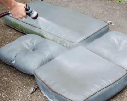 how do you clean patio cushions