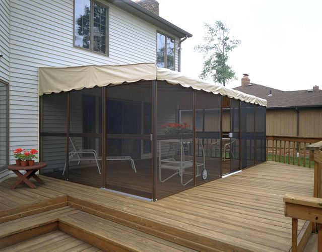 wall attached screened enclosures