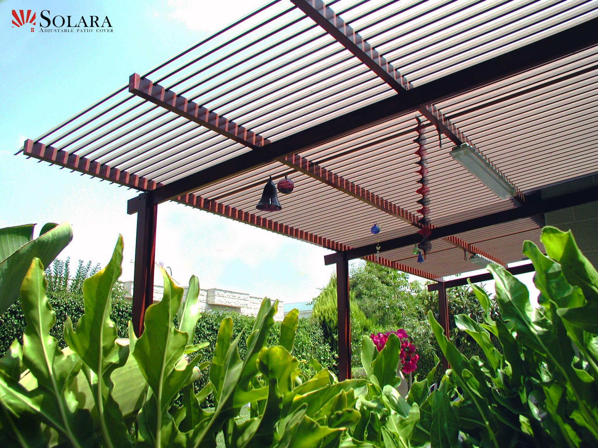 adjustable aluminum louvered roof
