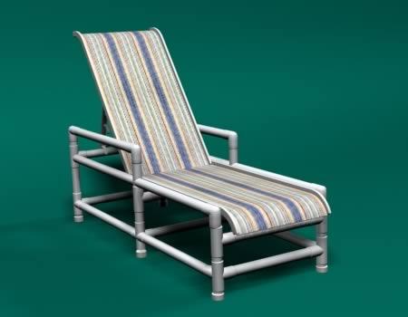 pvc lounge chair folding recliner sling
