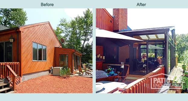 Albany All Season Sunroom Gabled Roof  Patio Enclosures