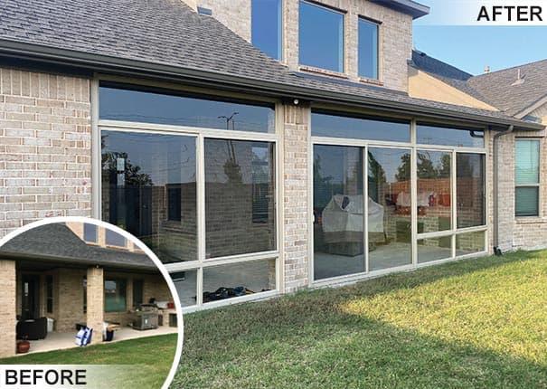 enclosed porches patios decks