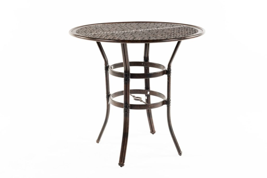 outdoor bar tables materials styles