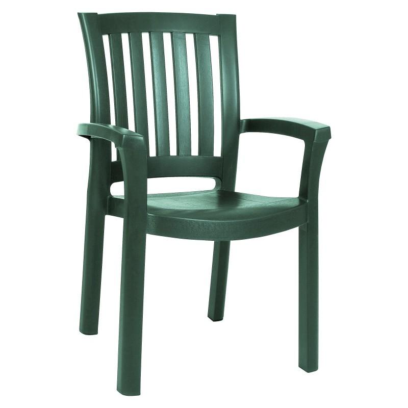 Green Plastic Chair  Sunshine Stacking ISP015