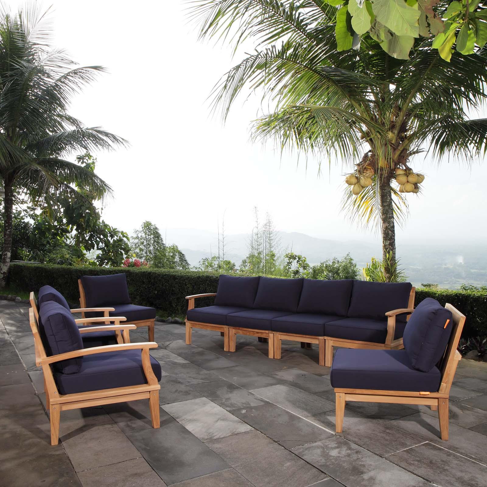 6 piece patio teak sectional outdoor teak set teak wood set teak patio set