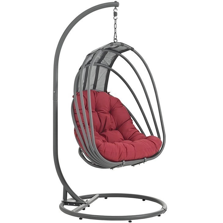 hanging chair outdoor rohe barcelona patio with stand furniture co egg