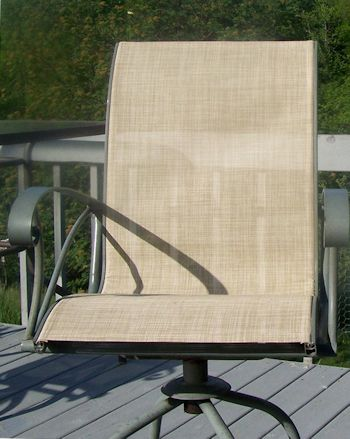 This image has an empty alt attribute; its file name is sling_replacement_patio_chair_putty_CR_after_Michaels-1.jpg