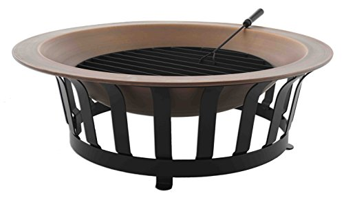 Titan 40 Solid 100 Copper Fire Pit Bowl Wood Burning Patio Deck Grill Patio Heaters Patio Fire Pits Patio Heater Covers