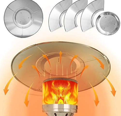 FCPTHP-1PC-SHIELD FIREPLACE CLASSIC PARTS Patio Heater Hiland Single Piece Heat Reflector Shield 3 Hole Mount