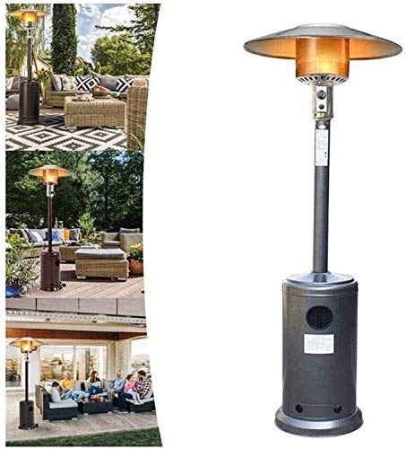 Silver 4000W Table Top Patio Heater Portable Outside Fire Garden Gas Burner Heat