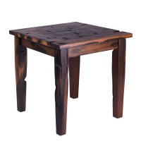 Ancient Shipwood Outdoor Patio Furniture End Table | PatioHQ