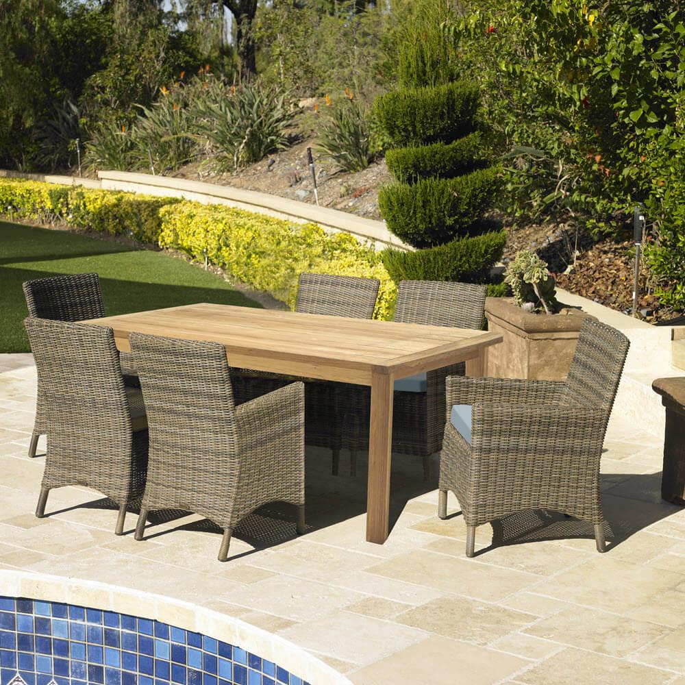 villamalur 71 outdoor patio furniture 7 piece dining table set