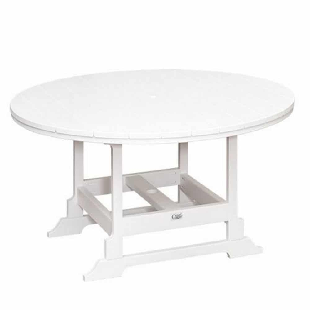 oceanside all weather poly 60 inch round patio dining table