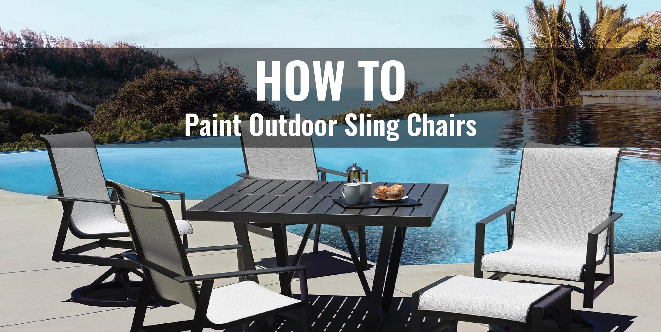 how to paint outdoor sling chairs i