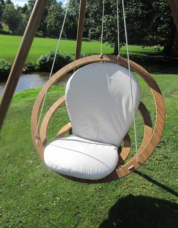 coolest outdoor wicker hanging chairs