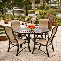 Sling Back Patio Dining Sets with Chairs