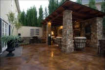 Stain Concrete Patio Designs
