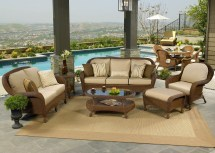 Deep Seating Wicker Patio Furniture Sets Spacious Design