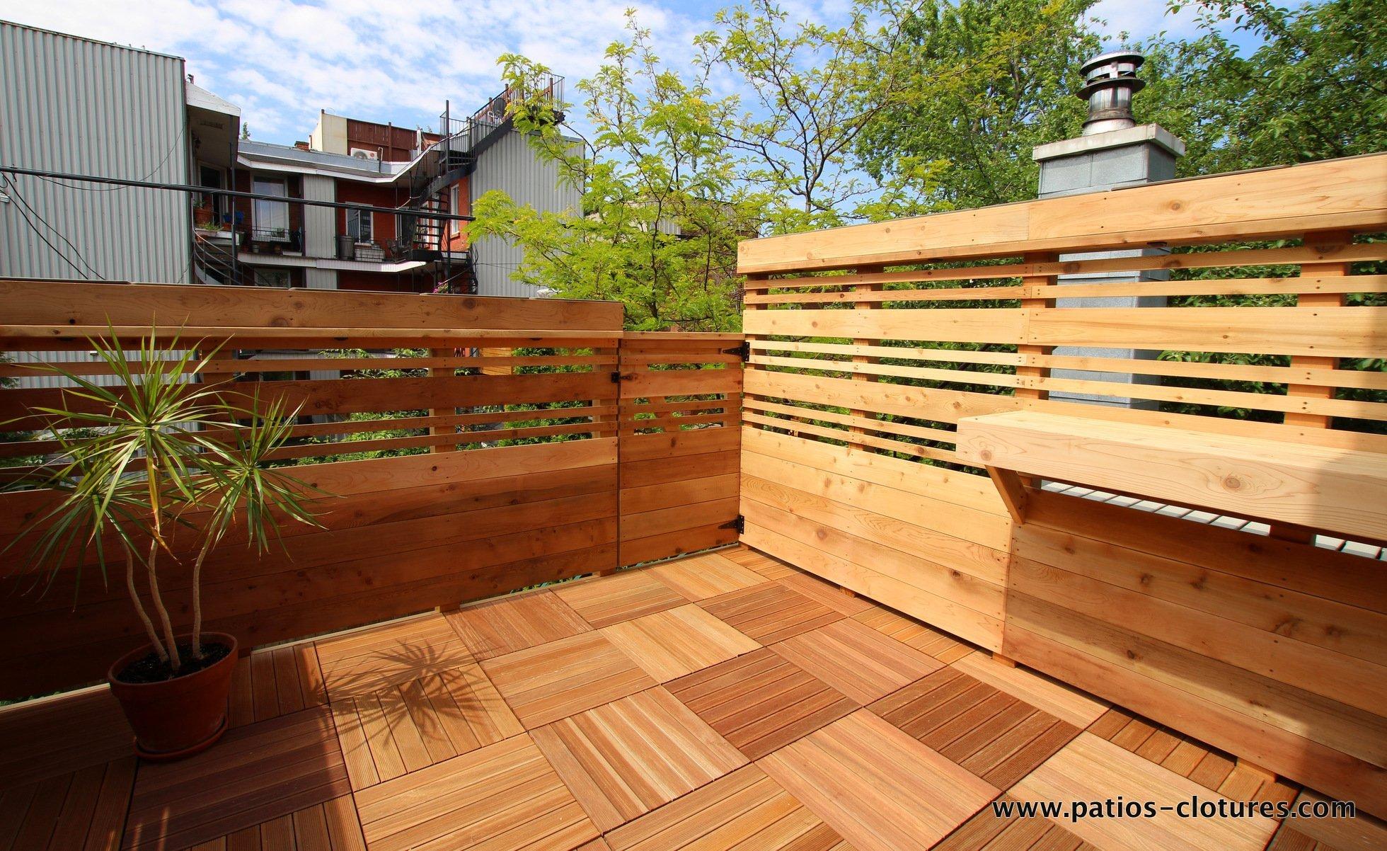 Rooftop Terrace Boivin Patios Et Cl 244 Tures Beaulieu