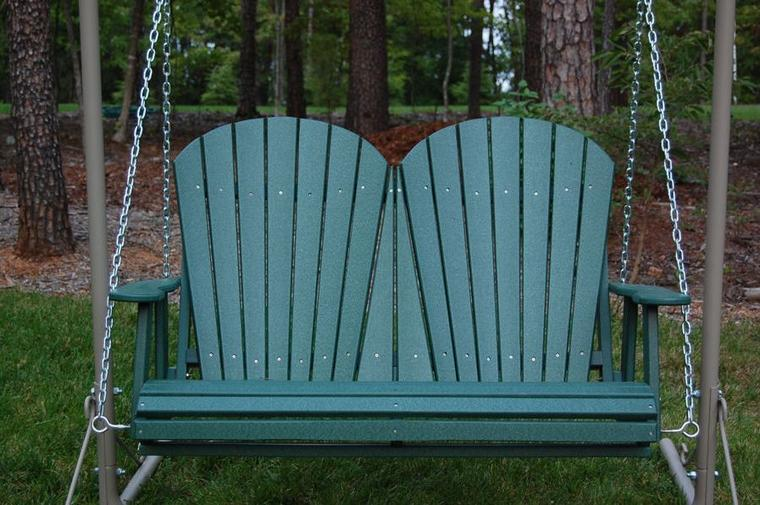 swing chair outdoor rocking cusions patios in bloom | polywood furniture