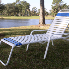 Repair Garden Chairs Adirondack Chair Original Design Vinyl Restrapping Your Atlanta Outdoor Patio Furniture Straight Strap Style