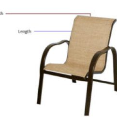 Hawthorne Oversized Sling Chairs Steel Chair Set Of 3 Replacement Slings For Patio Patiosling 1