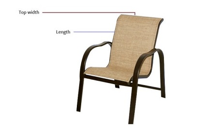 replacement chair sling 1pc