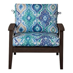 Wicker Chair Cushions With Ties Target Industrial Chairs Outdoor Patio Deep Seat Relaxed Cushion Set Seasonal Replacement 17